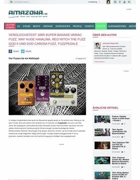 Vergleichstest: MXR Super Badass Variac Fuzz, Way Huge Havalina, Red Witch The FUZZ GOD II und DOD Carcosa Fuzz, Fuzzpedale