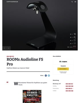 ROOMs Audio Line Typ FS Pro BK Headphone Stand