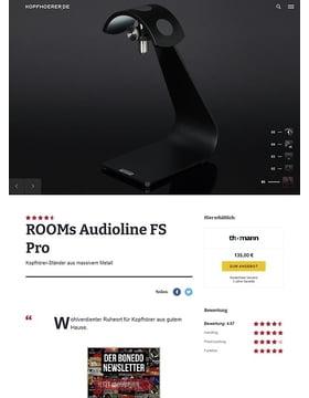 ROOMs Audio Line Typ FS Pro BK Headphone Stand