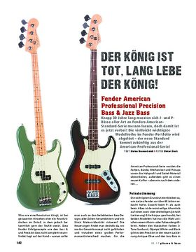 Fender American Professional Precision Bass & Jazz Bass