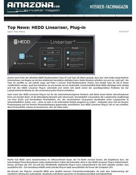 Top News: HEDD Lineariser, Plug-in