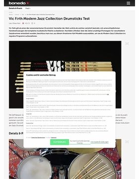 Vic Firth Modern Jazz Collection Drumsticks Test