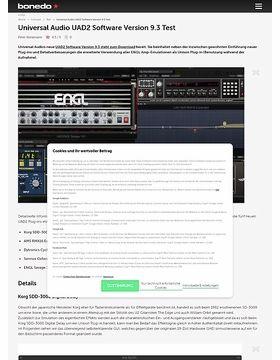 Universal Audio UAD2 Software Version 9.3