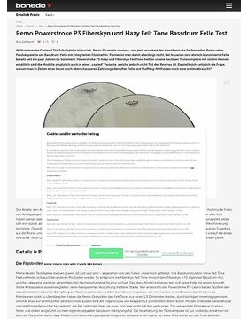 Remo Powerstroke P3 Fiberskyn und Hazy Felt Tone Bassdrum Felle