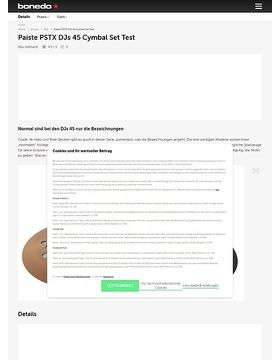 Paiste PSTX DJs 45 Cymbal Set