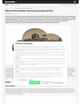 Sabian HHX Evolution Thomann Exclusive Set
