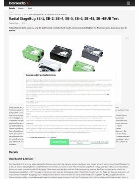 Radial StageBug SB-1, SB-2, SB-4, SB-5, SB-6, SB-48, SB-48UB Test