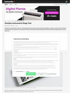 Mutable Instruments Rings Test