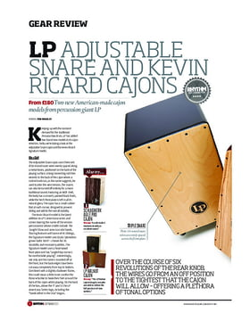 LP Adjustable Snare And Kevin Ricard Cajons
