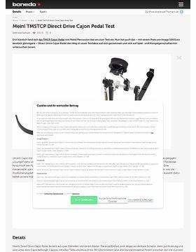 Meinl TMSTCP Direct Drive Cajon Pedal