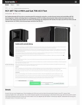RCF ART 712-A MK4 und Sub 708-AS II