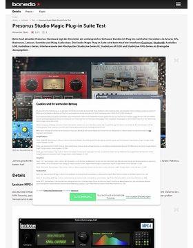 Presonus Studio Magic Plug-in Suite