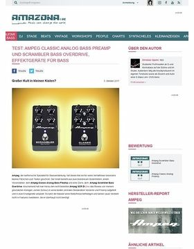 Ampeg Classic Analog Bass Preamp und Scrambler Bass Overdrive