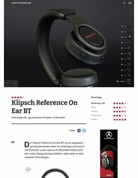Klipsch Reference On-Ear BT Black