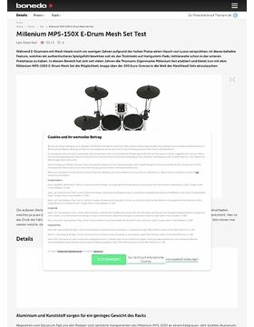 Millenium MPS-150X E-Drum Mesh Set