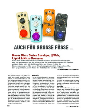 Mooer Micro Series Envelope, @Wah, Liquid & Micro Drummer