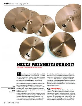 Meinl Pure Alloy Cymbals