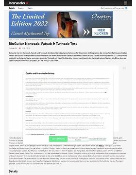 BluGuitar Nanocab, Fatcab & Twincab