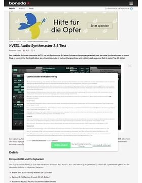 KV331 Audio Synthmaster 2.8