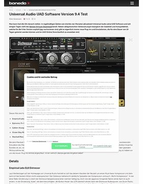 Universal Audio UAD Software Version 9.4