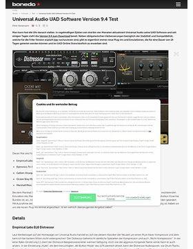Universal Audio UAD Software Version 9.4