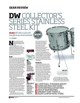 DW Collector's Series Stainless Steel kit