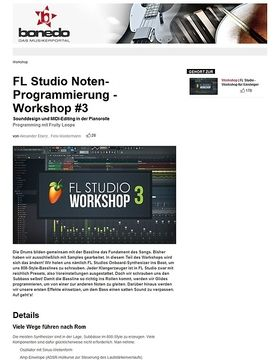 FL Studio Noten-Programmierung - Workshop #3