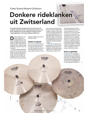 Paiste Twenty Masters Collection bekkens