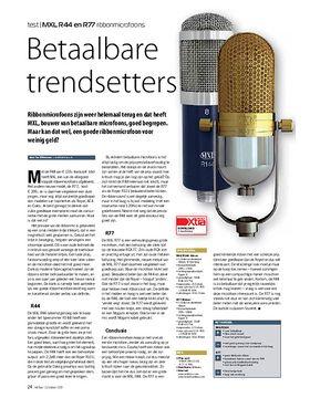 MXL R44 en R77 ribbonmicrofoons