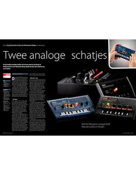 Korg Monotron Duo en Monotron Delay synthesizers