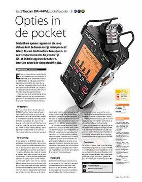 Tascam DR-44WL pocketrecorder