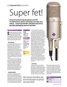 Neumann U47 fet microfoon