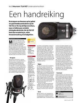 Neumann TLM 107 condensatormicrofoon