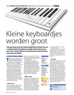 CME X-key Air 25 & 37 bluethooth-usb keyboardcontrollers