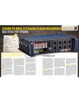 Zoom F8 Multitrack-recorder
