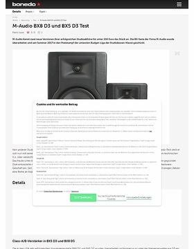 M-Audio BX8 D3 und BX5 D3