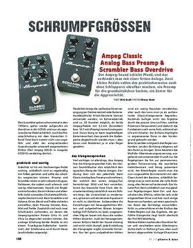 Ampeg Classic Analog Bass Preamp & Scrambler Bass Overdrive