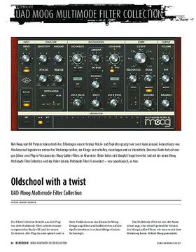 UAD Moog Multimode Filter Collection