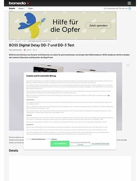 BOSS Digital Delay DD-7 und DD-3
