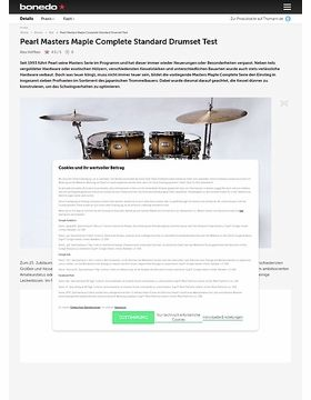 Pearl Masters Maple Complete Standard Drumset