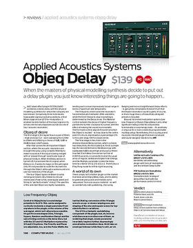 Applied Acoustics Systems Objeq Delay