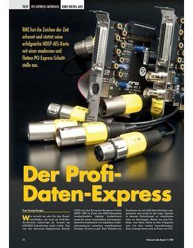 Der Profi-Daten-Express RME HDSPe AES