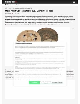 Meinl Artist Concept Stacks 2017 Cymbal Sets