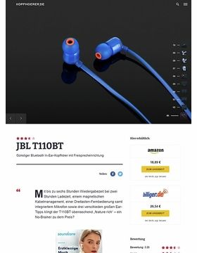 JBL by Harman T-110BT Blue