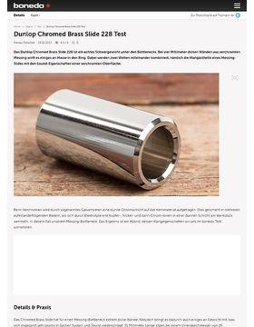 Dunlop Chromed Brass Slide 228