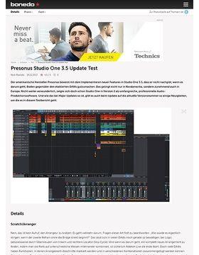 Presonus Studio One 3.5 Update