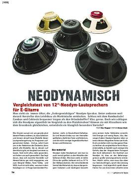 Vergleichstest! 12 Zoll-Neodym-Lautsprecher für E-Gitarre