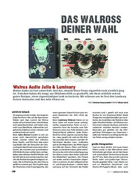 Walrus Audio Julia  & Luminray