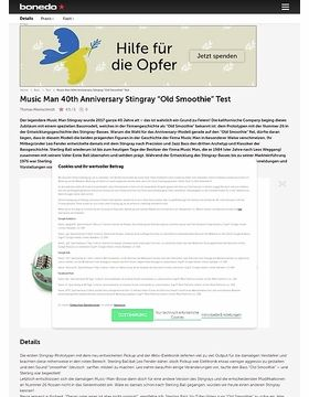 Music Man 40th Anniversary Stingray