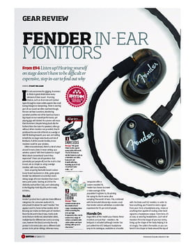 Fender in-ear Monitors